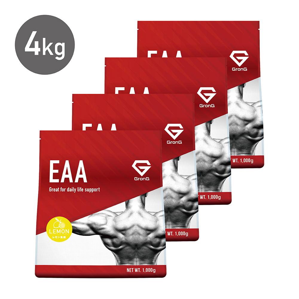 GronG(グロング) EAA レモン 風味 4kg(400食分) 10種類 アミノ酸 サプリメント 国産