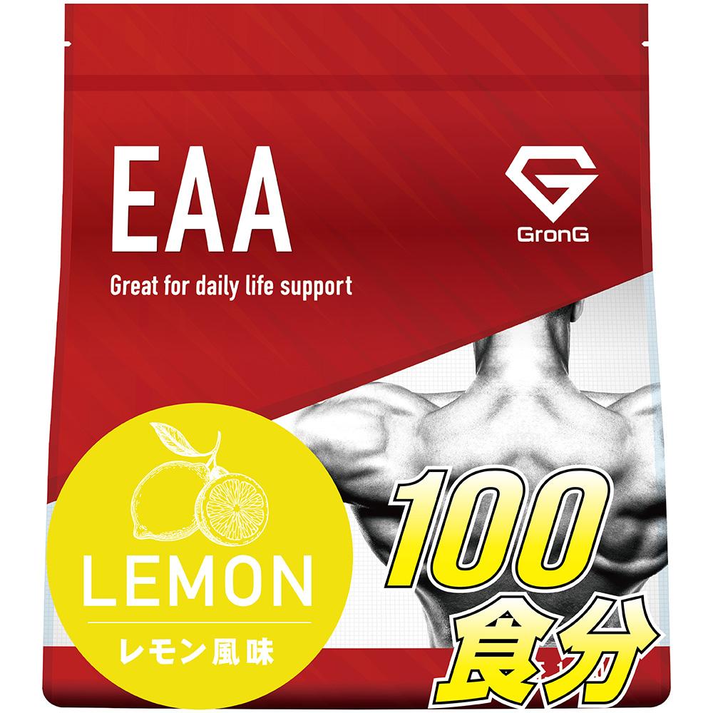 GronG(グロング) EAA 1kg レモン 風味 (100食分) 10種類 アミノ酸 サプリメント 国産