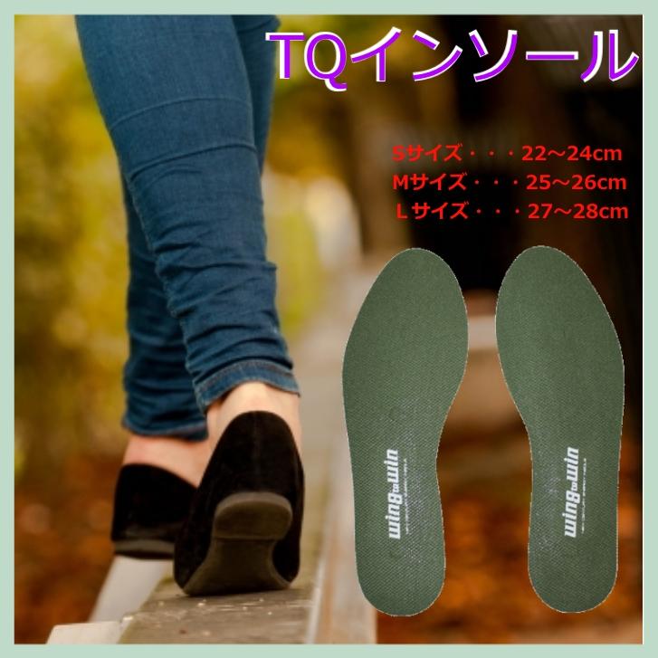 TQインソール ソフトタイプ Lサイズ 足への負担を軽減 全身のバランスがとれ、人生の歩みが変わる