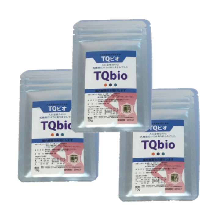 TQビオ TE-type テロメアタイプ 粉末10g(約1ヶ月分) 付属スプーン 3袋セット 有用腸内細菌群14,000種以上(大豆発酵食品) フローラのバランス環境に ダイエット