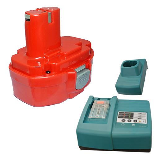 充電器セット マキタ(makita) 1822 互換バッテリー 18.0V (A) 1.3Ah ニカド 差込み式 + マルチ充電器 【あす楽対応】【送料無料】