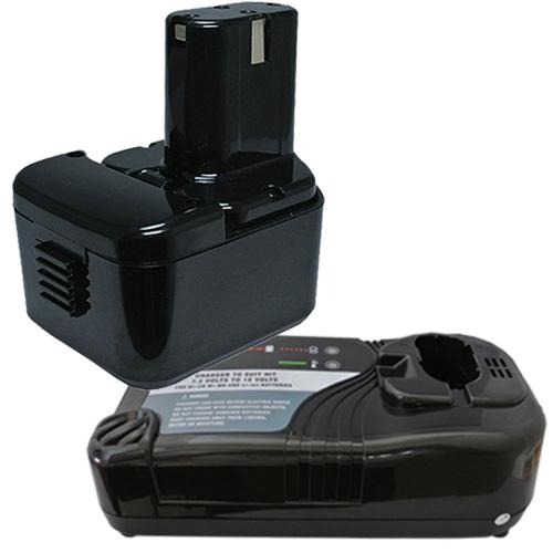 充電器セット 日立工機(Hitachi Koki) 電動工具用 ニカド 互換 バッテリー 12.0V 2.0Ah 【EB1214L】【EB1214S】【EB1220BL】【EB1212S】対応+ マルチ充電器