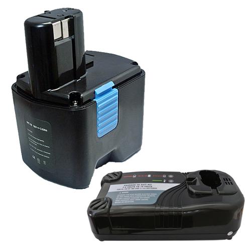 充電器セット 日立工機(Hitachi Koki) EB 18B 互換バッテリー 18.0V (A) 3.0Ah ニッケル水素 差込み式 + マルチ充電器 【あす楽対応】【送料無料】