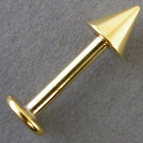 商品 ボディピアス スパイクラブレット ゴールド メール便送料無料 全品送料無料 14G12mm