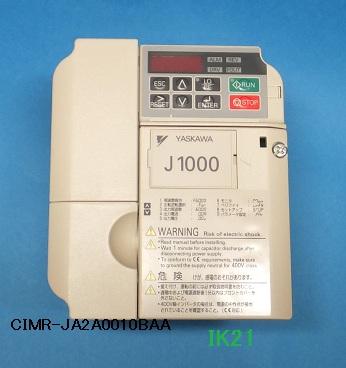 安川電機 〓 インバータ 小型シンプル J1000(三相電源AC200V用)軽負荷0.75KW/重負荷0.4KW 〓 CIMR-JA2A0004BA