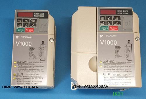 安川電機 〓 インバータ 「スゴ! 簡単! 世界最小!」 小形ベクトル制御可能V1000(三相電源AC200V用)軽負荷0.75KW/重負荷0.4KW 〓 CIMR-VA2A0004BA