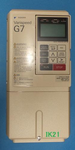 人気の春夏 高性能&環境対応 本格ベクトル制御汎用インバータ(三相電源AC200V用)0.4KW 〓 〓 CIMR-G7A20P41:IK21 安川電機-DIY・工具