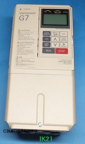 安川電機 〓 高性能&環境対応 本格ベクトル制御汎用インバータ(三相電源AC200V用)1.5KW 〓 CIMR-G7A21P51