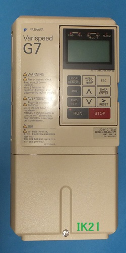 安川電機 〓 高性能&環境対応 本格ベクトル制御汎用インバータ(三相電源AC200V用)22KW/重負荷15KW 〓 CIMR-G7A2022