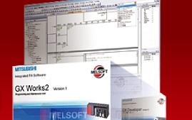 三菱電機 〓 GX Works3 Ver.1 (接続ケーブル, インタフェースはオプション)サイトライセンス、200人分 〓 SW1DND-GXW3-JC
