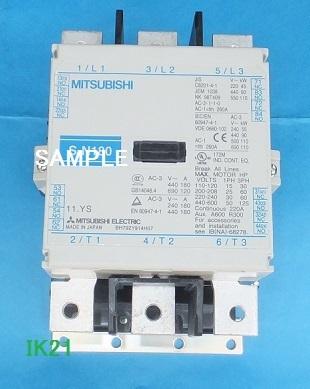 三菱電機 〓 電磁接触器(サーマルリレーなし、解放形) 〓 S-N180 コイル電圧AC200V