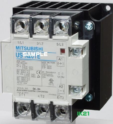 三菱電機 〓 ソリッドステートコンタクタ AC-1級定格使用電流20A 〓 US-N20TE 3極3素子 操作電源DC12~24V