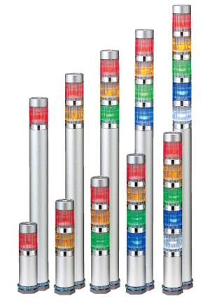 パトライト 〓 LED超スリム積層信号灯 〓 ショートボディMES-502A-RYGBC