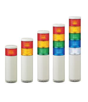 パトライト 〓 LED中型積層信号灯 〓 LHE-410AFB-RYGB
