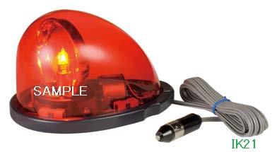 パトライト 〓 流線型回転灯:【色】:赤 〓 使用電圧:DC12V 〓 HKFM-101-R