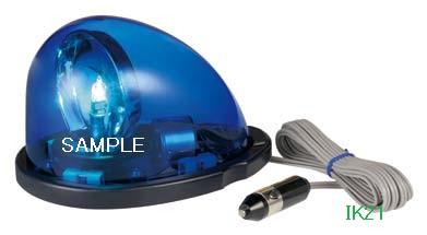 パトライト 〓 流線型回転灯:【色】:青 〓 使用電圧:DC12V 〓 HKFM-101-B