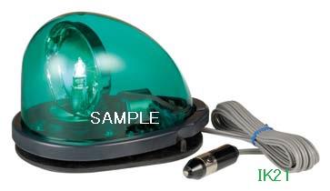パトライト 〓 流線型回転灯:【色】:緑 〓 使用電圧:DC12V 〓 HKFM-101G-G