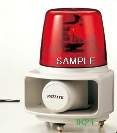 パトライト 〓 ホーンスピーカ一体型マルチ電子音回転灯 Φ162 105dB:【色】:赤 〓 使用電圧:DC24V 〓 RT-24E-Rラッパッパ