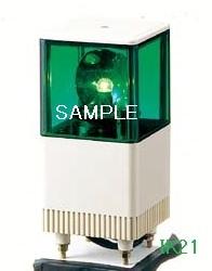 パトライト 〓 電子音積層回転灯 □116 85dB:【色】:緑 〓 使用電圧:AC100V 〓 KJT-110A-G