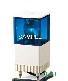 パトライト 〓 電子音積層回転灯 □116 85dB:【色】:青 〓 使用電圧:AC100V 〓 KJT-110A-B