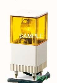 パトライト 〓 電子音積層回転灯 □116 85dB:【色】:黄 〓 使用電圧:AC200V 〓 KJT-120C-Y