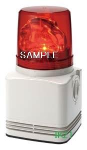 パトライト 〓 電子音積層回転灯 φ100 90dB:【色】:赤 〓 使用電圧:AC100V 〓 RFT-100C-R