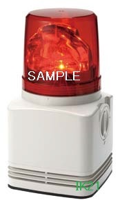 パトライト 〓 電子音積層回転灯 φ100 90dB:【色】:赤 〓 使用電圧:AC100V 〓 RFT-100D-R