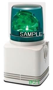 パトライト 〓 電子音積層回転灯 φ100 90dB:【色】:緑 〓 使用電圧:AC100V 〓 RFT-100D-G