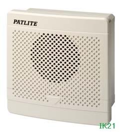パトライト 〓 電子音報知器 □120 95dB:【色】:ライトグレー 〓 使用電圧:AC100V 〓 BK-100E-J