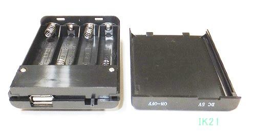 電池ボックス USBコネクタ付 人気急上昇 ノーブランド 電池は付属されてません 海外 単3×4本 〓