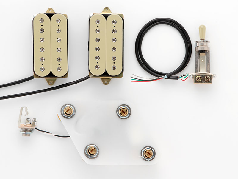 "DiMarzio Pre-wired Pickup Set for Les Paul Type ""Modern Metal set (GG2101A3CR)"" 【安心の正規輸入品】"