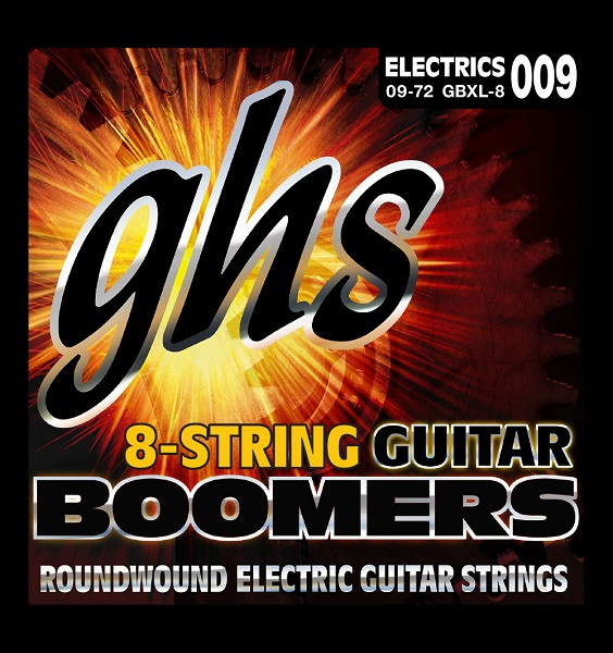 GHS Electric 半額 Boomers GBXL-8 09-72 購買 8弦ギター用