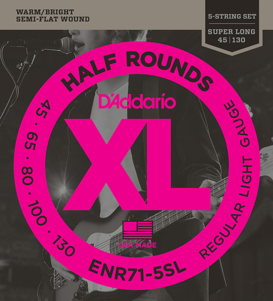 D'Addario Half Rounds Semi-Flat Wound ENR71-5SL