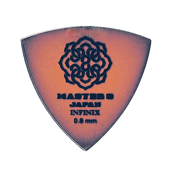 ピック マスターエイト MASTER8 JAPAN INFINIX IF-TR080 ×10枚セット 店内限界値引き中&セルフラッピング無料 滑り止め加工無し TRIANGLE 蔵 0.8mm