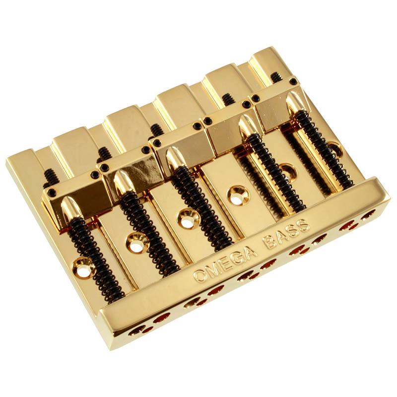 ALLPARTS BB-3360-002 5-String Omega Bass Bridge (Gold)