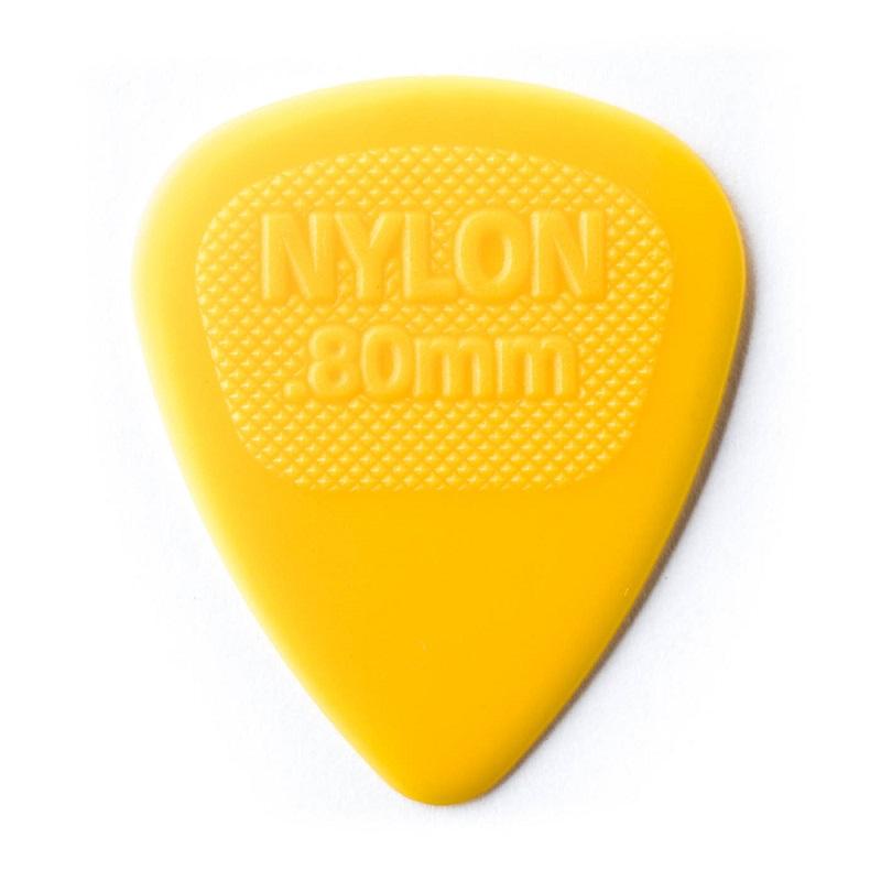 ダンロップ ピック Dunlop 男女兼用 数量は多 Jim Midi 443R Nylon×10枚セット イエロー Standard 0.80mm