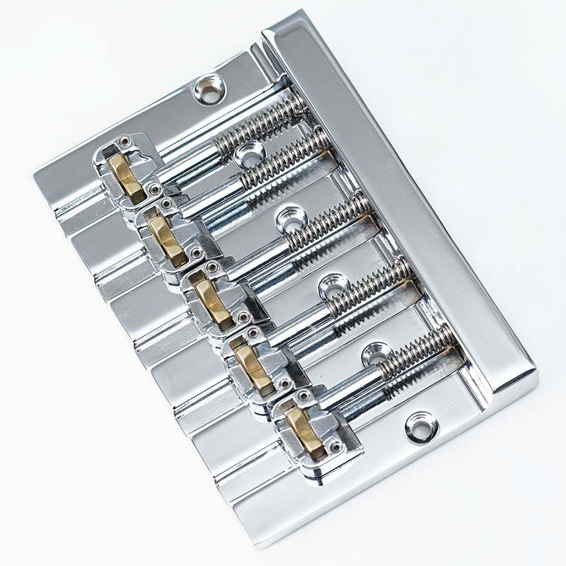 HIPSHOT Kick Ass Bass Bridge (Chrome) [5弦ベース用]