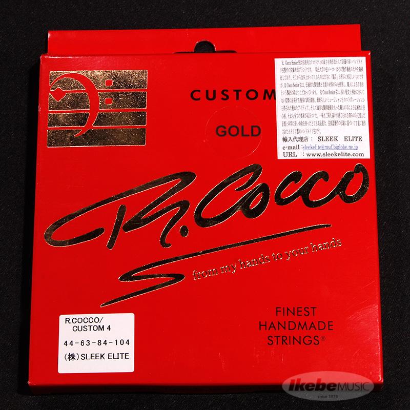 評判 R.Cocco Finest Handmade Bass Strings ゴールド弦 4弦用 Custom 44-104 4 優先配送