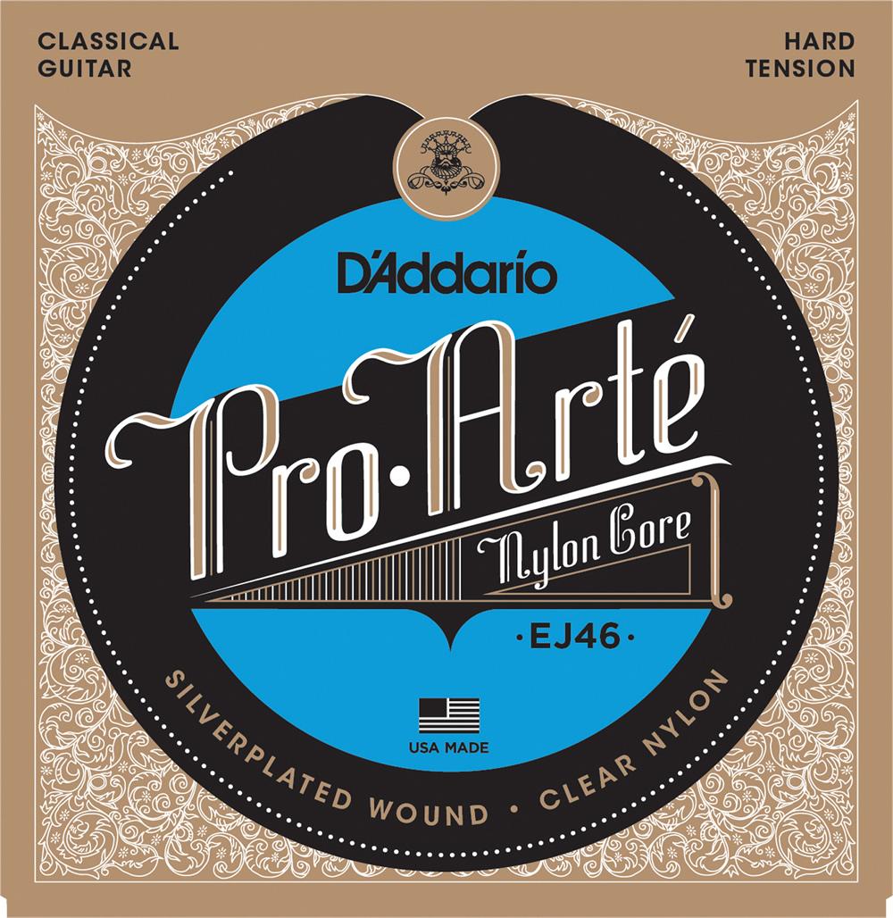 D'Addario Pro-Arte Classical Guitar Nylon 格安 Strings 無料サンプルOK Tension EJ46 Hard