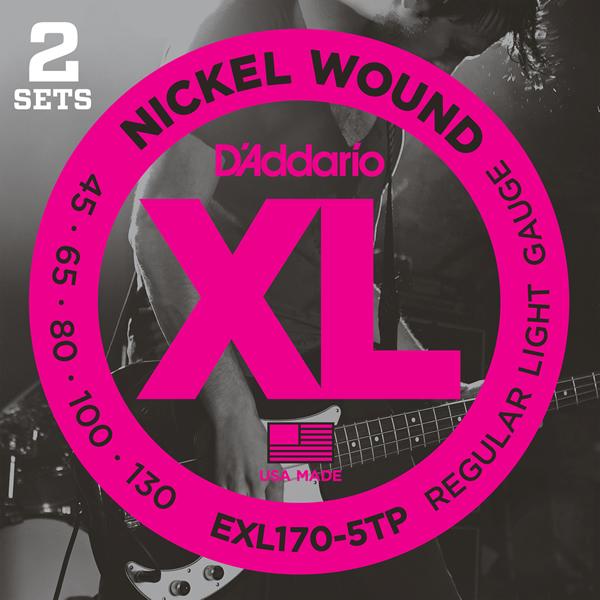 D'Addario XL Nickel Round Wound EXL170-5TP