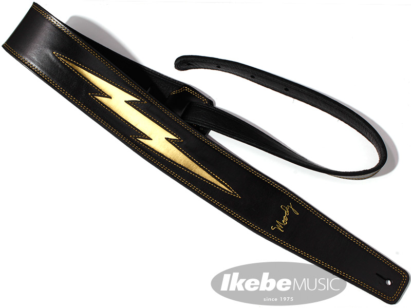 Moody Leather-Leather Gold Lightning Bolt 2.5