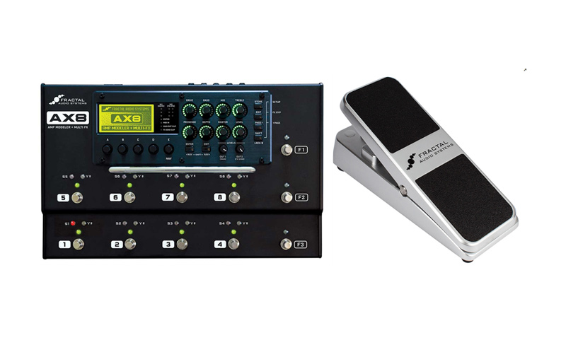 FRACTAL AUDIO SYSTEMS AX8+EV-1 Expression Volume Pedal (Silver) SET 【接続ケーブルプレゼント】【即納可】