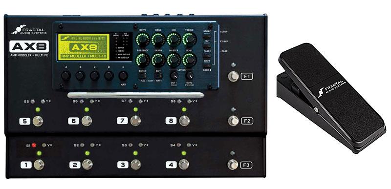 FRACTAL AUDIO SYSTEMS AX8+EV-1 Expression Volume Pedal (Black) SET 【接続ケーブルプレゼント】【即納可】