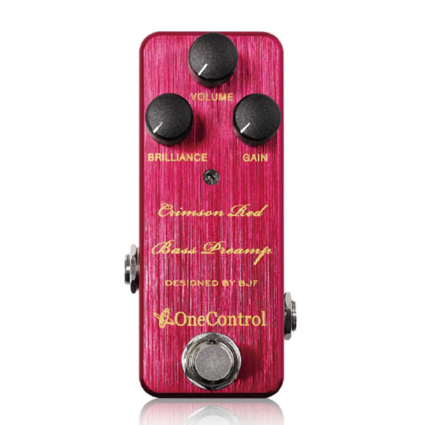 One Control Crimson Red Bass Preamp