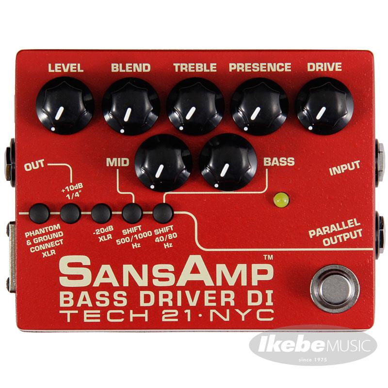TECH21 SANSAMP BASS DRIVER DI V2 (Vermilion) 【イケベオリジナル限定カラー】 【ひなっち解体新書プレゼント!】