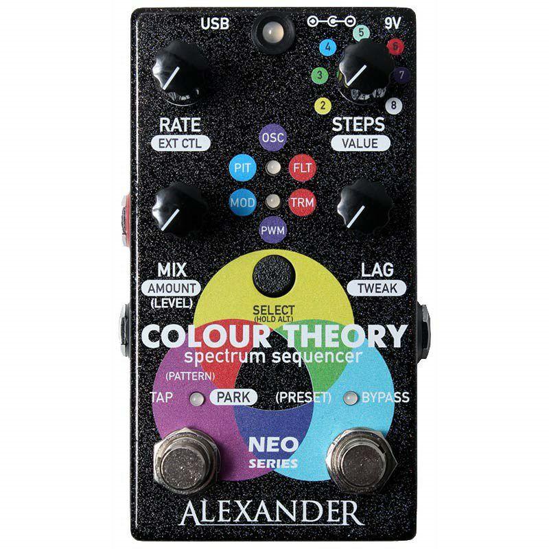 アレクサンダーペダルス エフェクター ステップシーケンサー ピッチシフター トレモロ Colour Theory 送料無料お手入れ要らず 新作続 Alexander Pedals