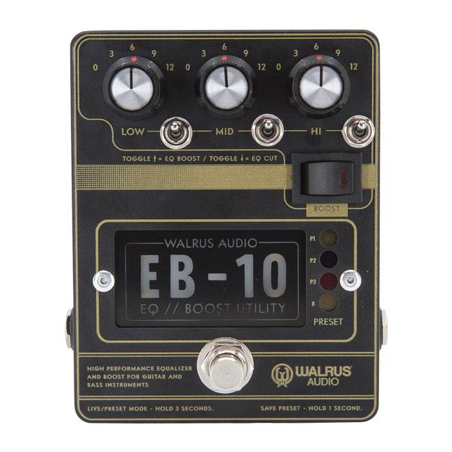 WALRUS AUDIO EB-10 PREAMP//EQ//BOOST [Matte Black]