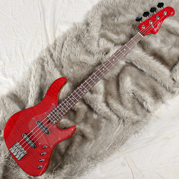 Bacchus GLOBAL Series IKEBE ORIGINAL HWL4-CUSTOM24/MG [4-strings Bass] (STR/シースルーレッド)