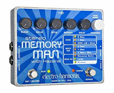 Electro Harmonix STEREO MEMORY MAN WITH HAZARAI 【ディレイ・ルーパー】