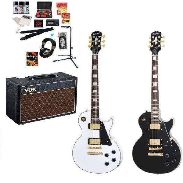 特選エレキギター初心者セット Epiphone Les Paul Custom Pro(VOX pathfinder 10アンプの入門セット)